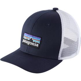 Patagonia Trucker Hat Kids p-6 logo: navy blue